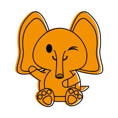 elephant cute animal cartoon icon image © Jemastock