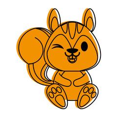 squirrel cute animal cartoon icon image © Jemastock
