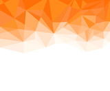 Fototapety Geometric Orange and White Abstract Vector Background for Use in Design.