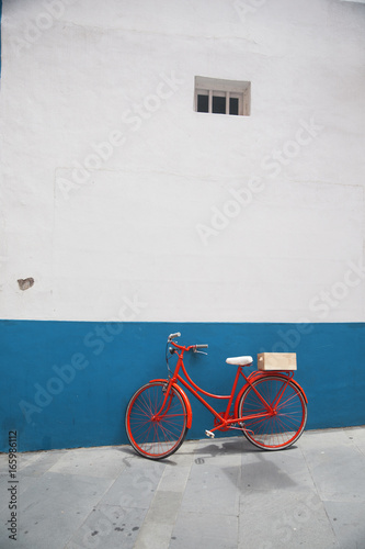 Poster Fiets Red bicycle