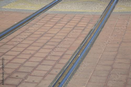 Tram Tracks in Streets of Saragossa, Aragon