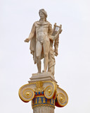 Athens Greece, Apollo statue, ancient god of music and poetry - 165997594