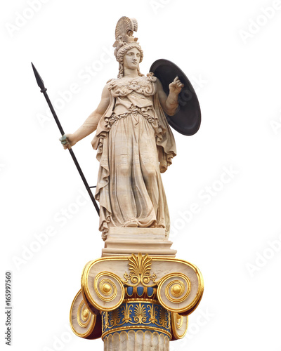 Poster Athene Athena statue, the ancient goddess of philosophy and wisdom