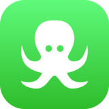 Isolated Octopus Icon Symbol On Clean Background. Vector Devilfish Element In Trendy Style.