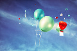 Balloons Flying to the Sky