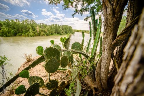 rio grande texas usa mexico border Poster