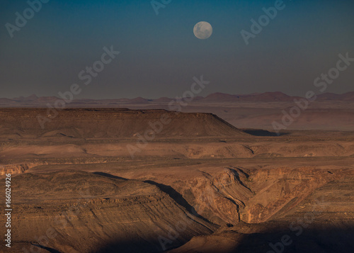 Full moon over the Fish River Canyon, Namibia