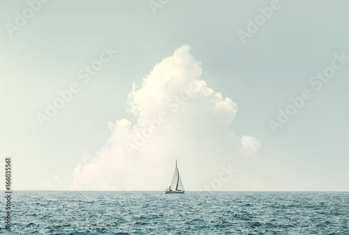 sailing in the sea - 166035561