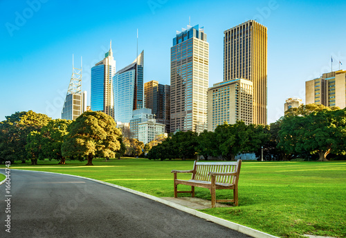 View of buildings from Botanic Gardens in Sydney