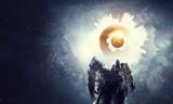 Astronaut in fantasy world. Mixed media - 166050312