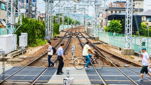 Foto op Canvas Spoorlijn 踏切