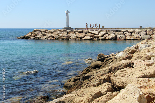 Foto op Plexiglas Cyprus Cyprus Statue on Pier in the Ayia-Napa Harbor