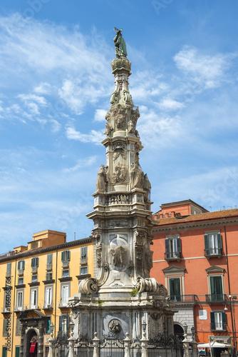 Guglia Dell Immacolata obelisk at the Piazza Del Gesu, Naples