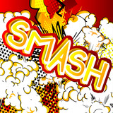 Smash - napis w stylu komksu