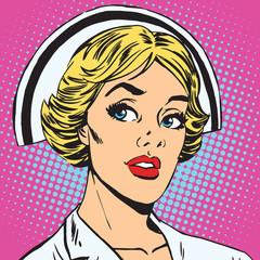 avatar portrait of a retro nurse