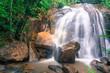 Small and safe water flows, cool air and green scenery are attractions that you can enjoy when you visit Gombak waterfall in Selangor, Malaysia - 166078157