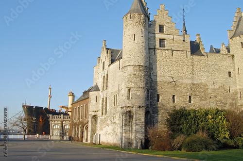 Keuken foto achterwand Antwerpen antwerpen burg schloss hafen