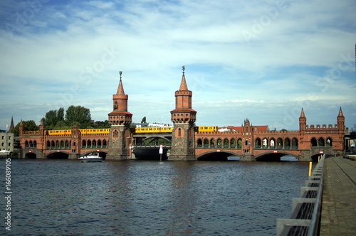 Europe, Germany, Berlin, Oberbaum Bridge in Berlin, Germany