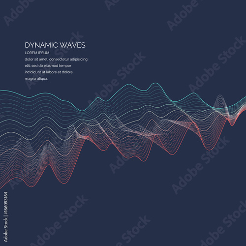 Abstract background with a dynamic waves, lines in a bright colorful style
