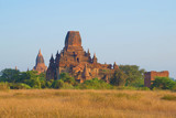 Morning at the ancient Buddhist temple. Bagan, Burma