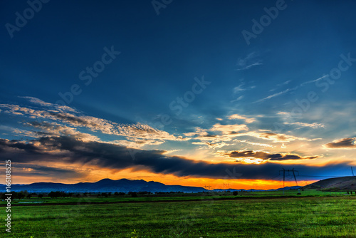 Foto op Canvas Nachtblauw Amazing sunset