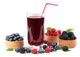blueberry juice isolated on white background.