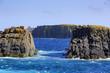 Rugged coastline surrounding thwe fishing village of Ferryland, Newfoundland and Labrador, Canada.