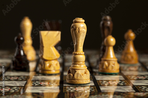 Chess pieces on a chessboard © vladimirfloyd