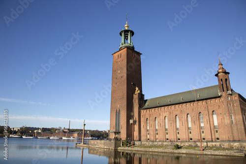 Foto op Canvas Stockholm City Hall - Stadshuset, Stockholm; Sweden