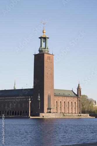 Staande foto Stockholm City Hall in Stockholm; Sweden