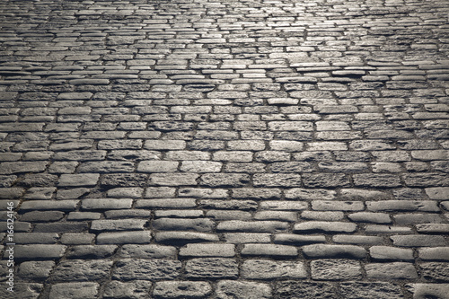 Tuinposter Stockholm Cobblestone Pavement and Street, Stockholm