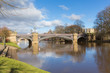 Skeldergate Bridge York England with River Ouse within the walls of the city