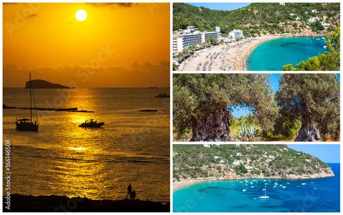 Fotobehang Collage of island Ibiza, Spain. Europe .