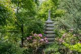 Stone pagoda in a garden