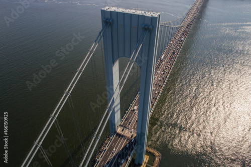 Poster Aerial image of the Verrazano Narrows Bridge New York