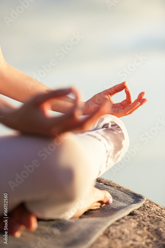 Foto op Canvas Zen yoga woman meditating outdoors