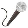 Microphone icon, cartoon style - 166152789