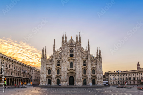 Foto op Canvas Milan Milan Cathedral (Milan Duomo) when sunrise, Milan (Milano), Italy