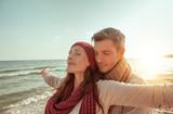couple carefree autumn coast - 166174726