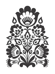 Polish folk flowers papercut decor
