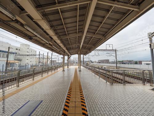 Foto op Canvas Spoorlijn 三島駅