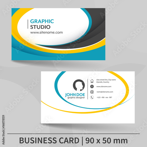 Business card template suitable for printing vector illustration business card template suitable for printing vector illustration reheart Choice Image