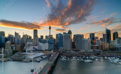 Staande foto Sydney Darling Harbour on sunrise