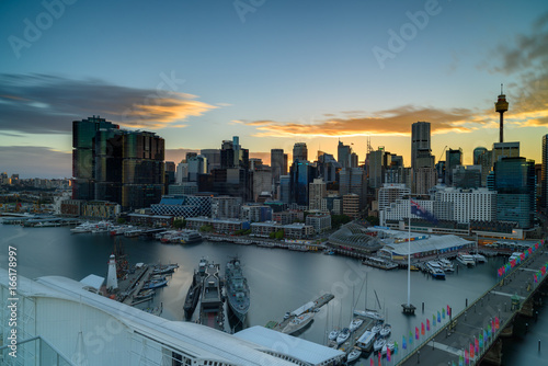 Darling Harbour on sunrise