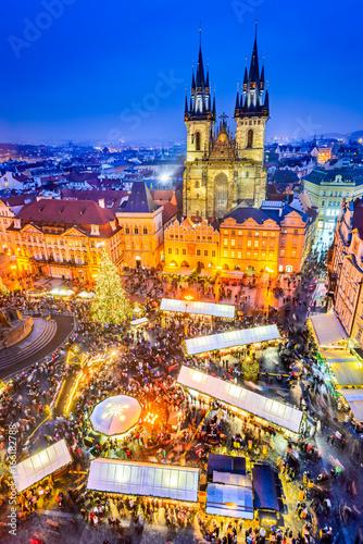 Prague, Czech Republic - Christmas Market Poster