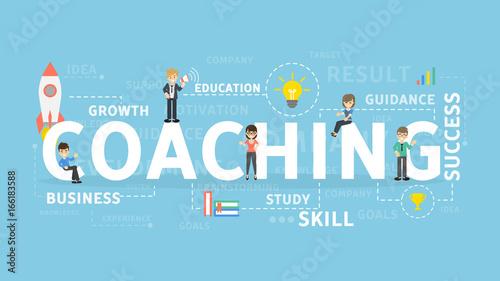 Coaching concept illustration. © artinspiring