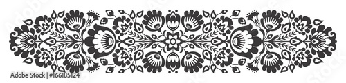 Polish folk flowers papercut decor © ancymonic