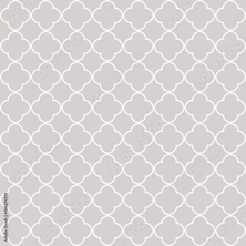 Quatrefoil geometric seamless pattern - 166214313