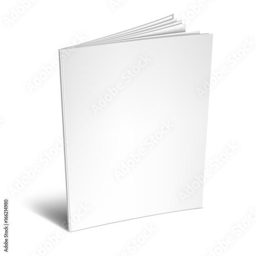 Pusta biała książka lub magazyn