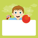 Cute illustrated character. Picture for children.